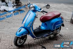 Dán đổi màu xe máy nhôm xước xanh