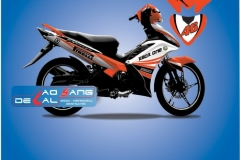 Tem xe Exciter 135 trắng cam