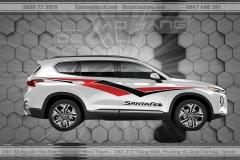 Tem xe hơi 7 chỗ Hyundai Santafe