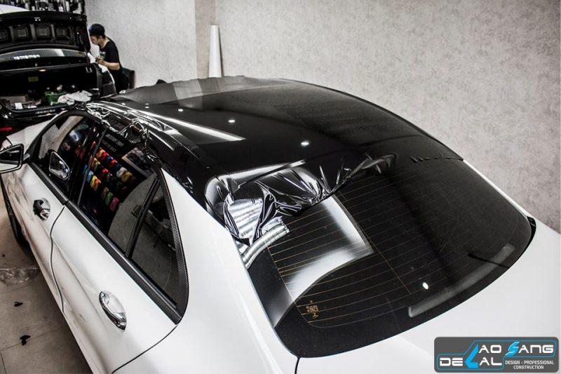 Dán nóc đen xe hơi ô tô - Dán nóc đen Panorama - Decal màu đen bóng