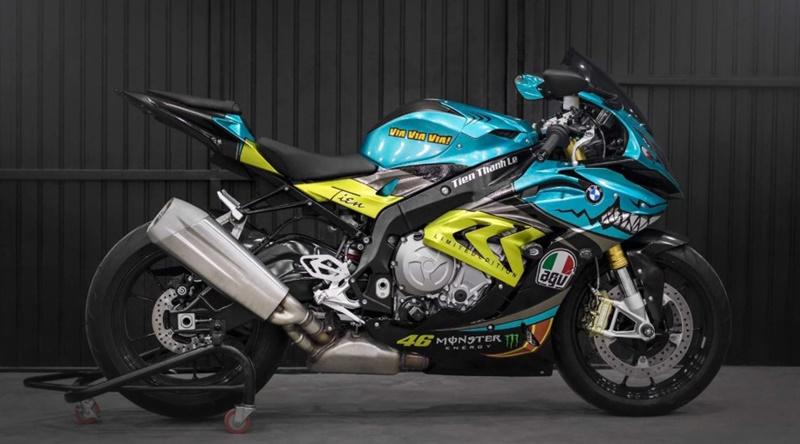 Tem xe Motor - Thiết kế tem trùm, tem rời xe moto - Decal tem xe Moto candy - chrome - nhôm xước đẹp nhất
