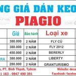 bảng giá dán decal xe piagio giá rẻ uy tín