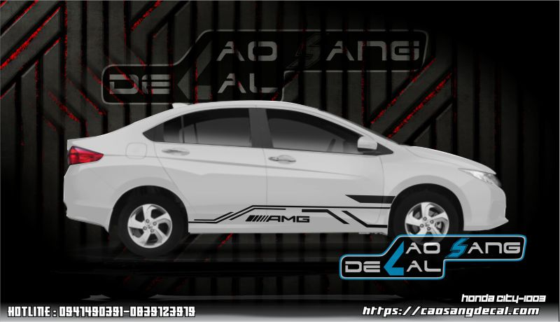 【TOP】Decal tem dán xe đẹp cho Honda City